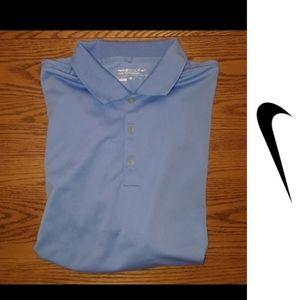 Size Xlarge Nike baby blue polo shirt